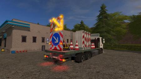 TRAFFIC TRUCK WITH WARNING STRUCTURE WITH LIGHT V1.0