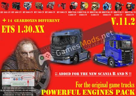 Pack Powerful engines + gearboxes V.11.2