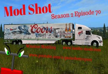 VOLVO TRUCK AND TRAILER IN COORS COLORS V1.0
