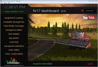 FS17 DASHBOARD V2.0