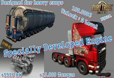 SPECIALLY DEVELOPED ENGINE 1.30.X