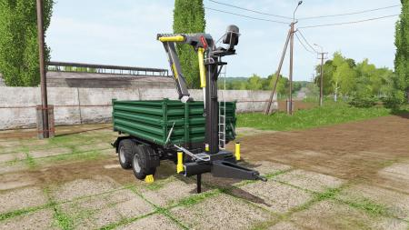 Fliegl timber trailer with fiscar