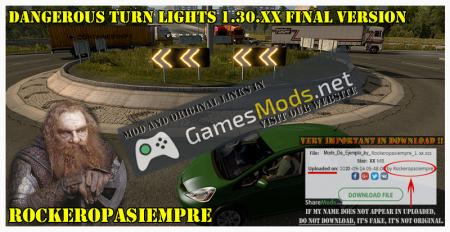 Dangerous Turn Lights 1.30.XX Final Version
