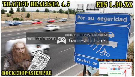 Realistic traffic 4.7 by Rockeropasiempre for V 1.30.XX