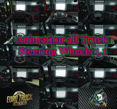 Animation all Truck Steering Wheels 1.1