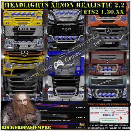 Headlights Xenon Realistic and Visors 2.2