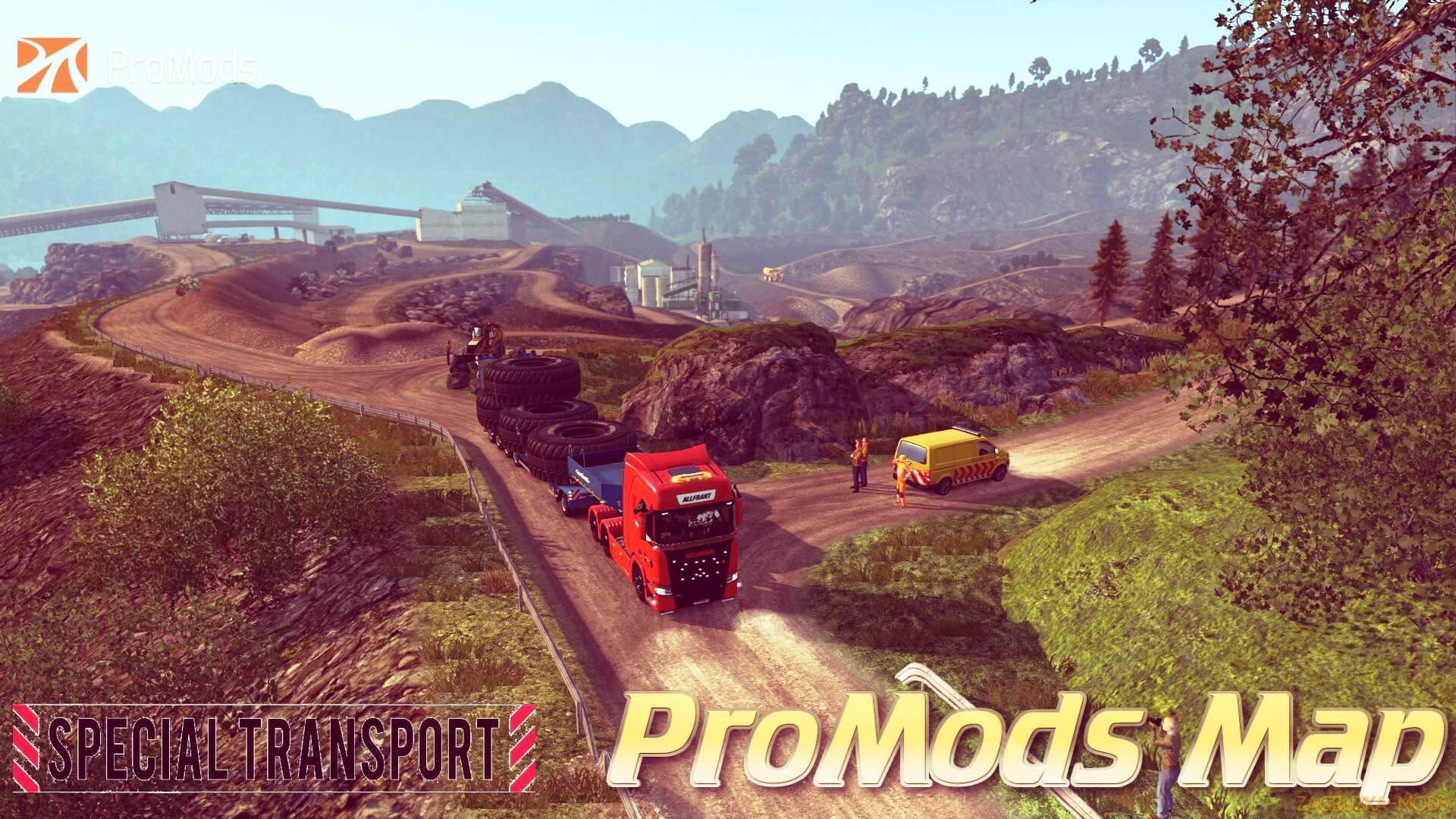 ProMods Map v2 27 + Special Transport DLC (1 31 x