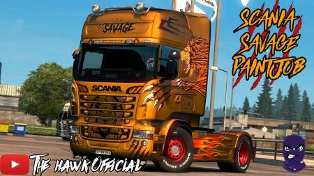 SCANIA R & STREAMLINE SAVAGE SKIN CUSTOMIZABLE V1.0