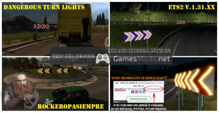 Dangerous Turn Lights ETS2 1.31.XX
