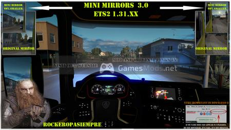 Mini mirrors V 3.0 for ETS2 1.31.XX