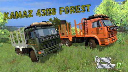 KamAZ 44118 Forest + Trailer