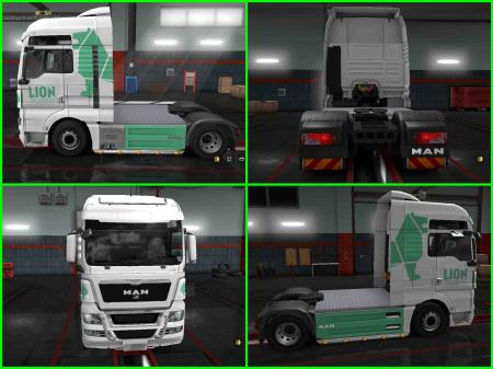 Skin Lion Truckers For ETS2 1.31.2.2