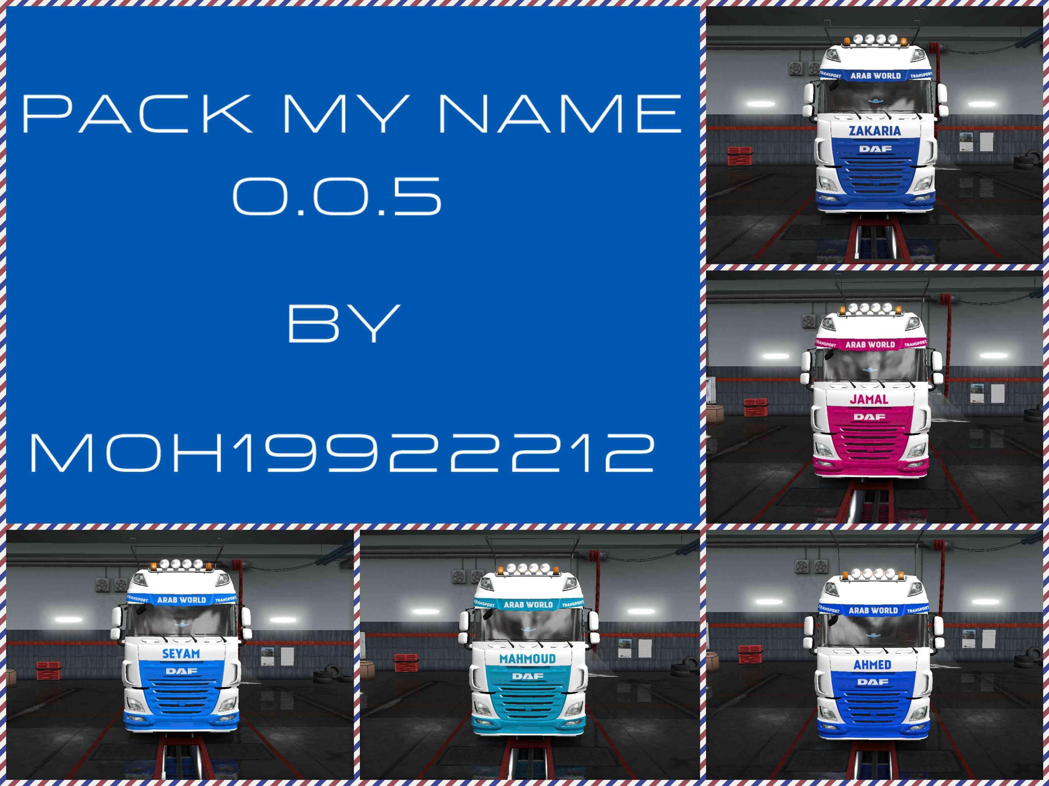 PACK MY NAME V0 0 5 SKIN FOR ETS2 + DLC 1 31 2 2 » GamesMods