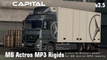 RIGID CHASSIS FOR MERCEDES ACTROS MP3 REWORKS V3.5