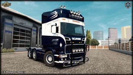 SCANIA JAN VAN DER MEER KIT [ SKIN + LIGHTBOX + WHEELS ] V1