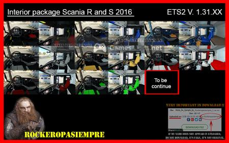Interior package Scania R and S 2016 ETS2 1.31.XX
