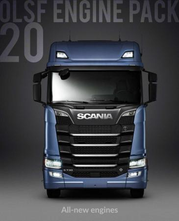 OLSF ENGINE PACK 20 FOR SCANIA R & S 2016 1.31.X