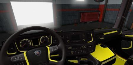 YELLOW & GREY INTERIOR FOR SCANIA S 2016 INTERIORS V1.0