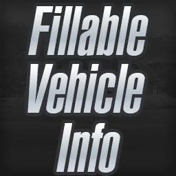 Fillable Vehicle Info