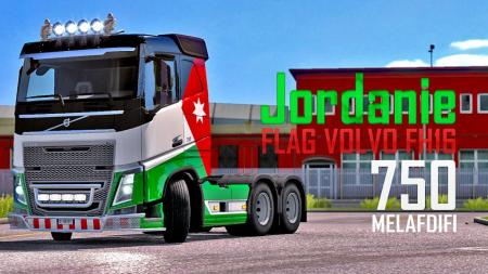 SKIN FLAG JORDANIE VOLVO FH16 FOER ETS2 1.32
