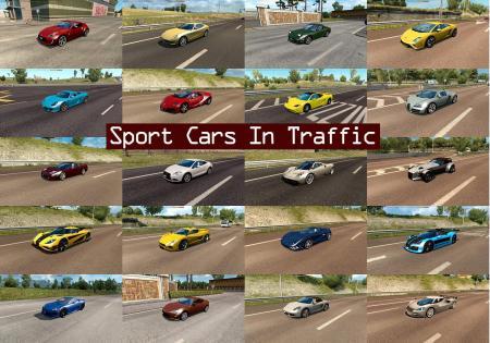 SPORT CARS TRAFFIC PACK BY TRAFFICMANIAC V1.8