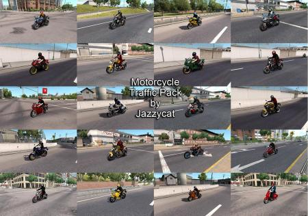 MOTORCYCLE TRAFFIC PACK BY JAZZYCAT V1.5 (FOR ATS)