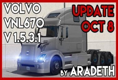 VOLVO VNL 670 BY ARADETH [ETS2 V1.32] V1.5.3.1