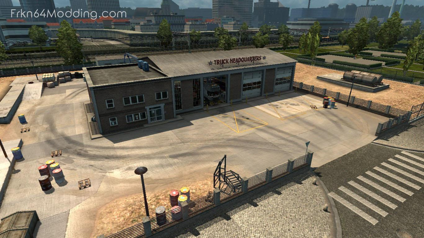 TRUCK HEADQUARTERS GARAGE V1 2 BY FRKN64 1 32 X » GamesMods net