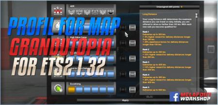 PROFIL FOR MAP UTOPIA FOR ETS2 1.32