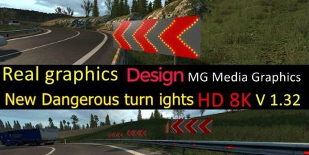NEW TEXTURES OF THE SIGNALS OF DANGEROUS ROAD CURVES V1.0