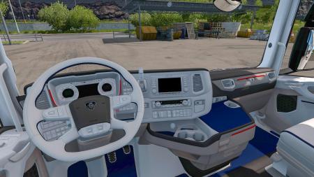 SCANI R-S WHITE BLUE INTERIOR V1.0