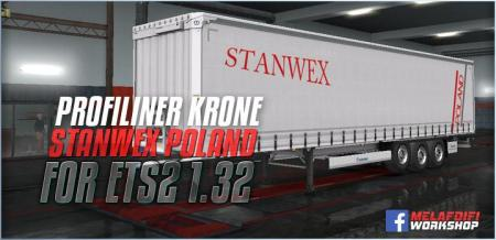 TRAILER KRONE STANWEX POLAND FOR ETS2 1.32.X