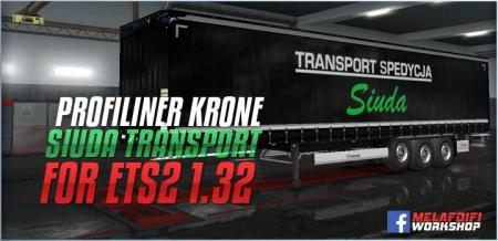 TRAILER SIUDA TRANSPORT FOR ETS2 1.32.X