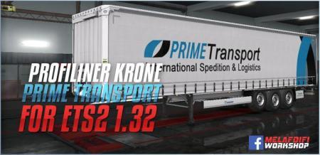 TRAILER KRONE PRIME TRANSPORT FOR ETS2 1.32