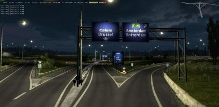 ROTTERDAM BRUSSEL HIGHWAY X CALAIS DUISBURG ROAD INTERSECTION V2.1