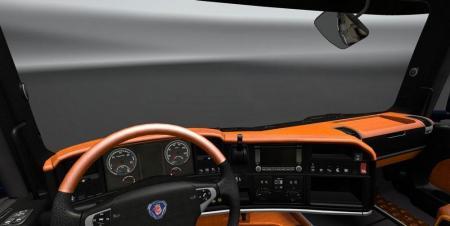 SCANIA STREAMLINE BLACK ORANGE INTERIOR LUXURY V8 V1.0