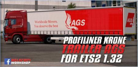 TRAILER KRONE AGSTRANSPORT FOR ETS2 1.32