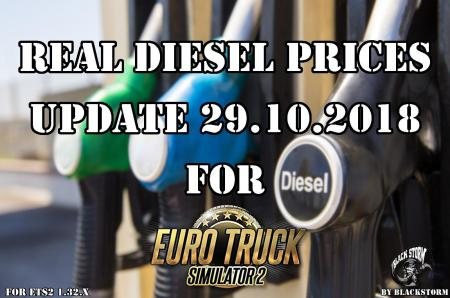 REAL DIESEL PRICES FOR ETS2 MAP (UPD.29.10.2018)