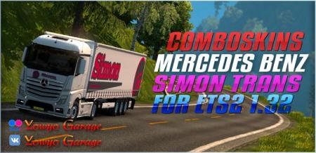 COMBOSKIN SIMON TRANS MP4 FOR ETS2 1.32