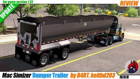 MAC SIMIZER DUMPER TRAILER 1.32.X BY B4RT
