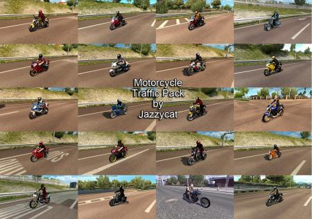 MOTORCYCLE TRAFFIC PACK BY JAZZYCAT V1.7