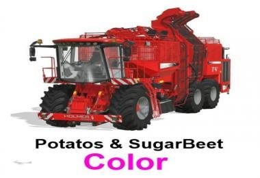 HOLMER WITH POTATOS & SUGARBEET + CUTTING UNITS V1.6