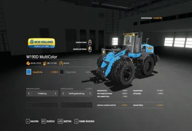 NH W190D WHEEL LOADER - MULTICOLOR AND MORE V1.0