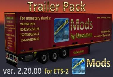 TRAILER PACK BY OMENMAN V2.20.00 ETS2 (RUS + ENG VERSIONS)