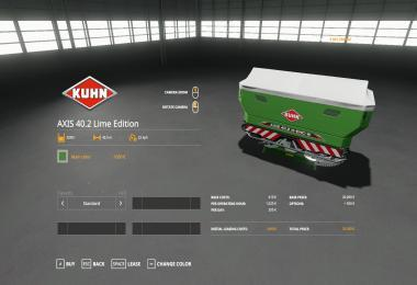 KUHN AXIS 40.2 LIME EDITION V1.0.0.1