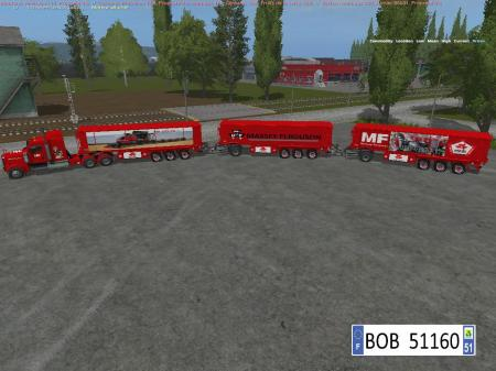 PACK TRUCK + 3 TRAILERS MASSEY FERGUSON BY BOB51160 V1.1