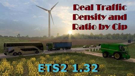 REAL TRAFFIC DENSITY AND RATIO ETS2 1.32.E