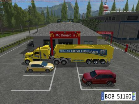 TRUCK + TRAILER YELLOW NEW HOLLAND BY BOB51160 V1.1