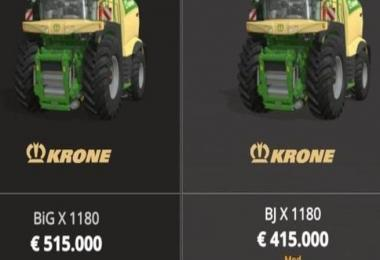 KRONE X1180 WITH TANK 100000L MP V1.0