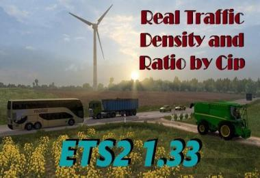 REAL TRAFFIC DENSITY AND RATIO ETS2 1.33.B